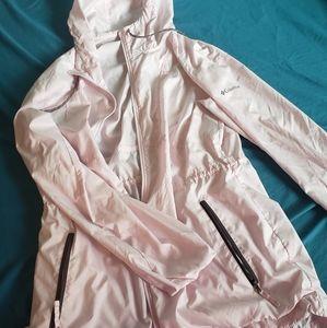 Columbia rain jacket light pink